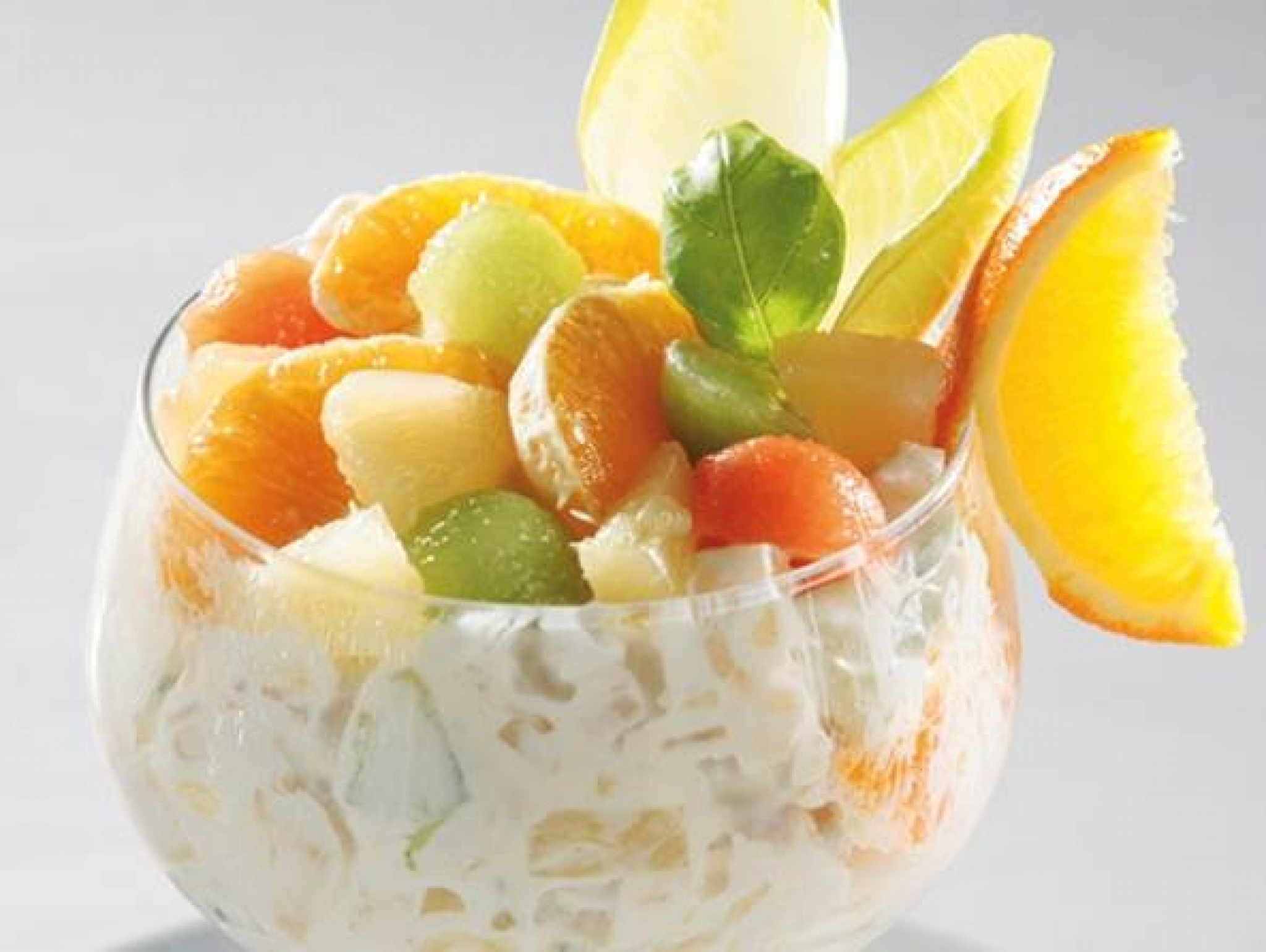 Tropische vruchtencocktailsalade