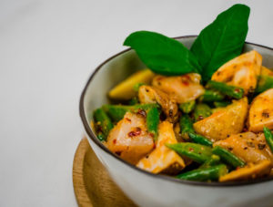 chicken wok met bruchette marinade